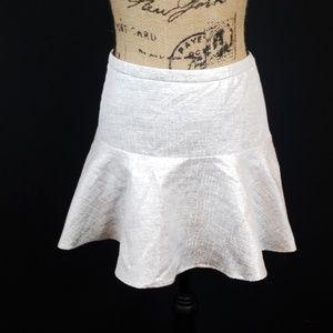 Express silver white metallic mini skirt M202:6:81